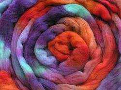Acid-Dyed Wool Tops